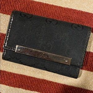Gucci canvas key case